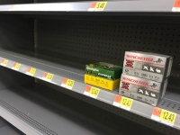 Empty Supermarket Ammo Shelves