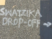 Swastika Drop-Off LA Graffiti