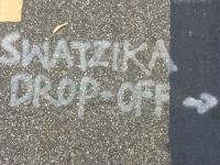 Swastika Drop-Off LA Graffiti
