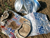 Bad American Beer Discarded Roadside