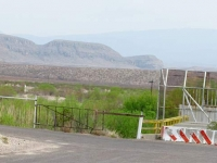 Feeble Big Bend Texas Rio Grande Mexican Border Blockade