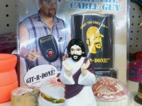 Jesus and Larry the Cable Guy at Unclaimed Baggage Center