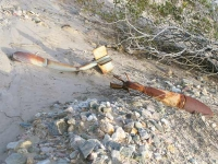 Old Unexploded Ordnance in Slab City Desert Sand