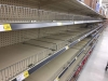 Empty Supermarket Pasta Shelves