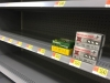 Empty Supermarket Ammo Shelves