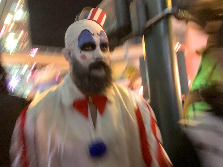 Scary Fremont Street Halloween Clowns
