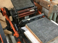 Old Printing Press Carbon County Museum