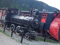 Old Trains in Skagway, Alaska