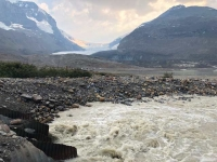 Columbia Icefields Athabasca Glacier Melting