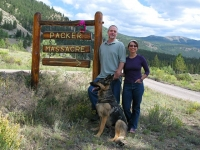 Alferd Packer Masacre Site Jim, Rene and Tripawd Wyatt