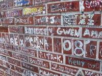 Elvis Tribute Grafiti Graceland Wall Memphis, TN