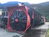 Old Tunnel Train in Skagway, Alaska
