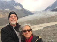 Athabasca Glacier Icefields Selfie