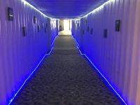 Container Hallway to The Greenhouse Adult Tubs at Sand Dunes Hot Springs