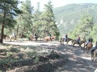 The Breakfast Ride up the hill at Vickers Ranch in Lake City, CO