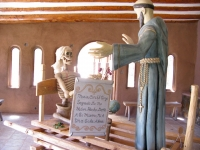 New Wood Carving at Santuario de Chimayo, New Mexico