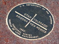 Four Corners State Survey Marker