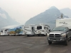 Athabasca Glacier Icefields Visitor Centre RV Boondocking