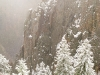Snowy Black Canyon of the Gunnison National Park
