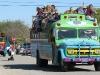 Hippie bus in Niland Tomato Festival Parade
