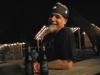 Enjoying Shiner Black at Luckenbach, Texas