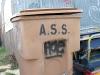 Austin Texas Alley Trash Can