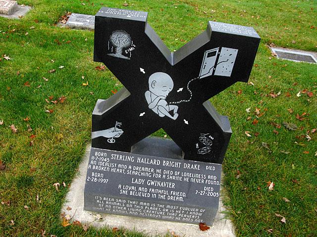 X Grave Marker