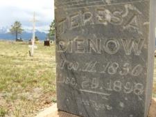 Silver Cliff Cemetery Dienow Headstone