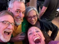 Fremont Street Experience with old Friends