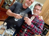Jim toasts College Buddy, Ari