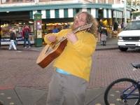 Guitar singer Pikes Place Market Seattle