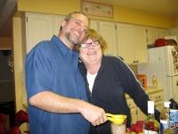Jim makes Mojitos for old Eureka neighbor Julie
