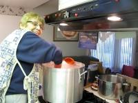 Mama Agredano making Tamales