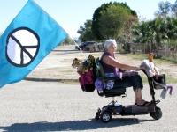 Peace Granny in Niland Tomato Festival Parade