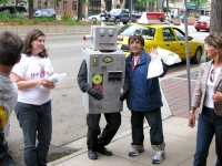 fort collins artwalk robot drunkard