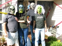 Masked Purcells Halloween Decorations