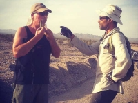 Jim and Topher Collect Brass near Bombing Range