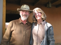Our new friends Roger and Anne at Rancho de las Golandrinas