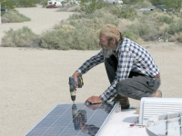 Christopher Helps Solar Mike Install New Panels on RV