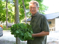 Farmer Bill delivers fresh Greens to Hill Shade RV Park