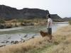 Old friend visits Lajitas, TX Contrabando Movie Set on Rio Grande
