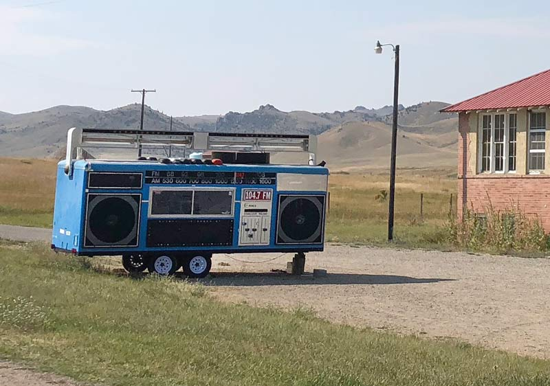 Mobile DJ Boom Box Trailer