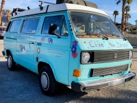 Old Hippie Van at Fountain of Youth