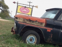 Luckenbach Texas Old Truck Sign
