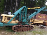 Old Earth mover at Jade City Cassiar Mountain Jade Store