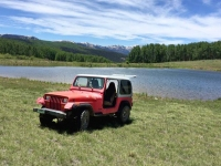 Old Red Workamping Jeep at Vickers Ranch