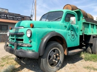 Old Dodge Dumptruck at Willie's Distillery Ennis Montanna