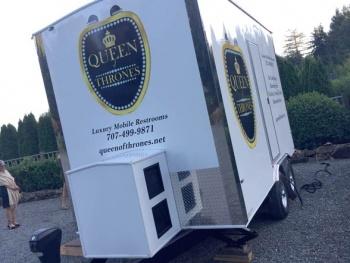 Queen of Thrones Portable Toilet Trailer