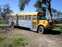 Peace Bus at the BioLiberty Compound on Bayou Liberty