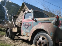 Old West wrecker truck in Silverton, CO